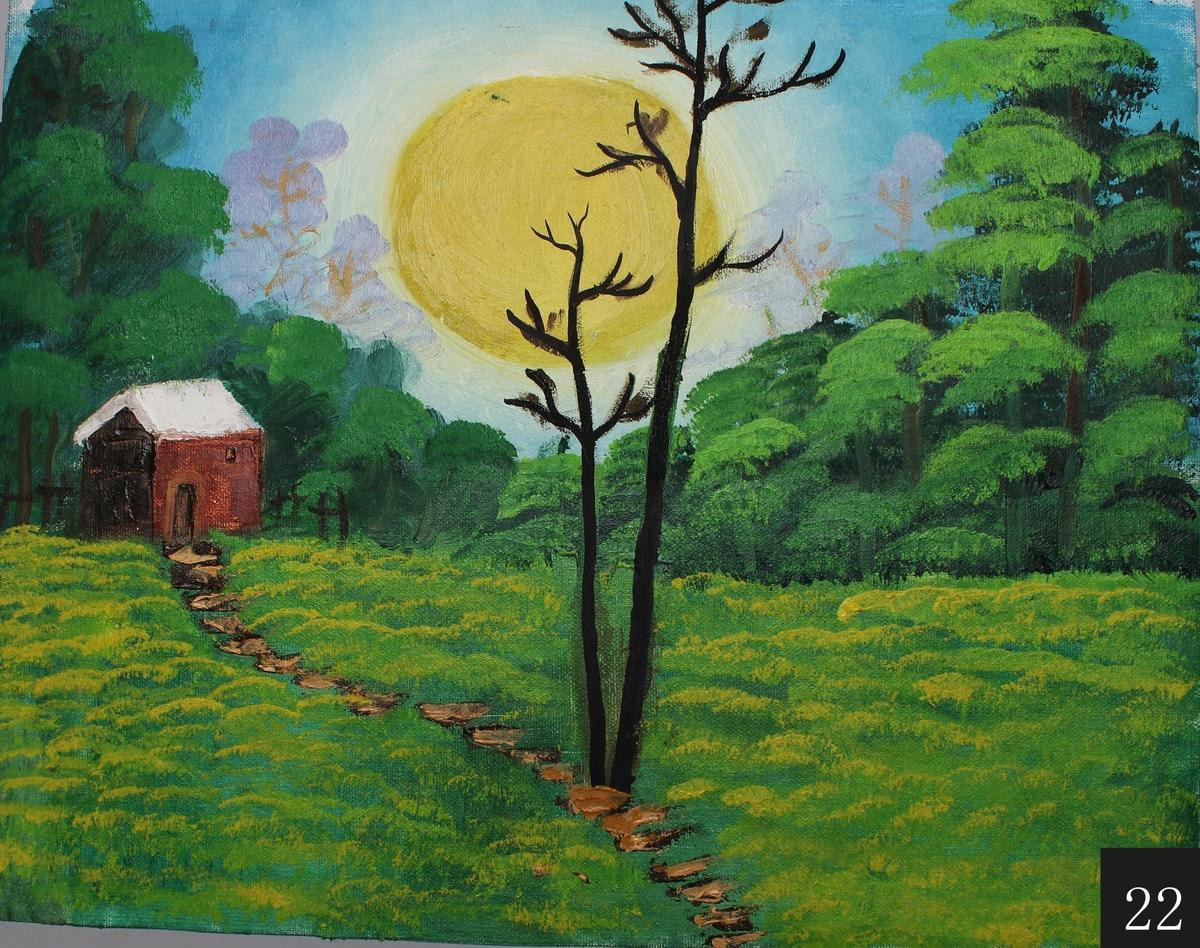 油畫風格風景