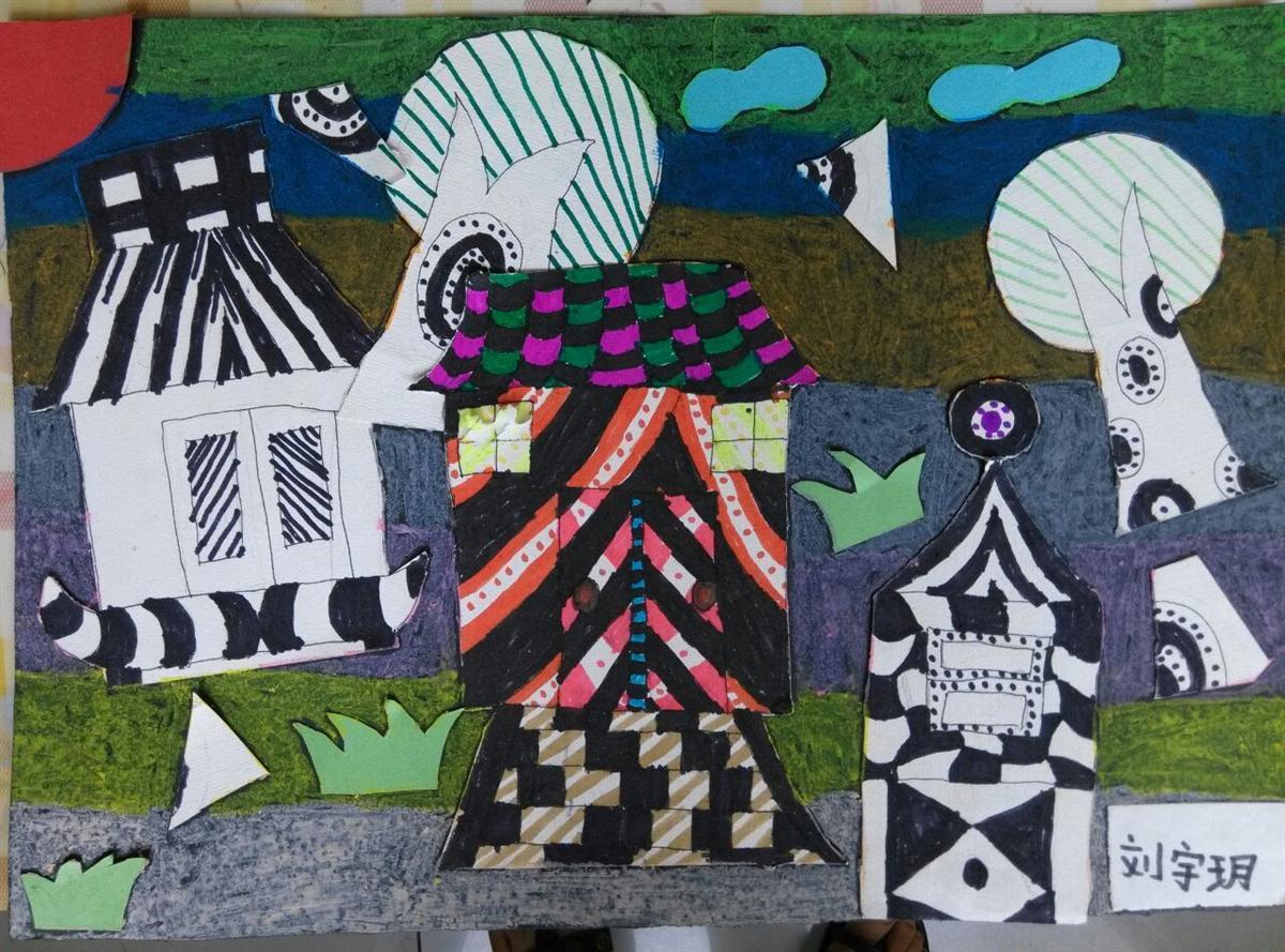 五年级剪贴画房子分享展示
