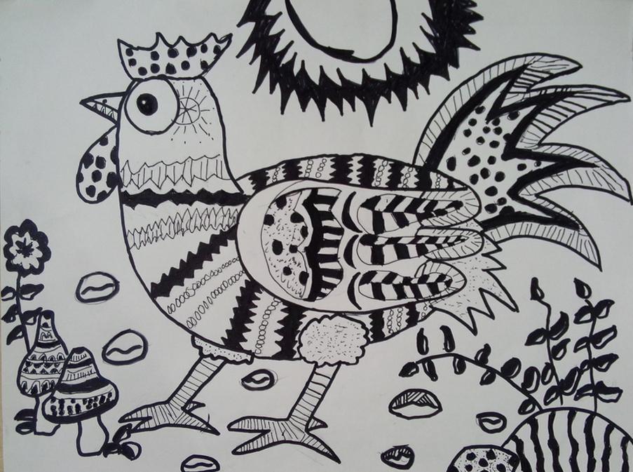 骄傲的大公鸡||中国少儿艺术网—全国少儿艺术综合性