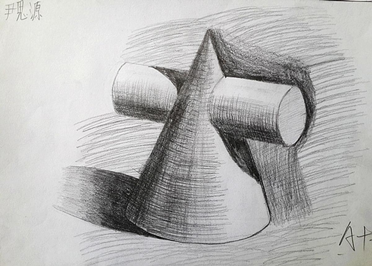 几何形体纹身手稿分享展示