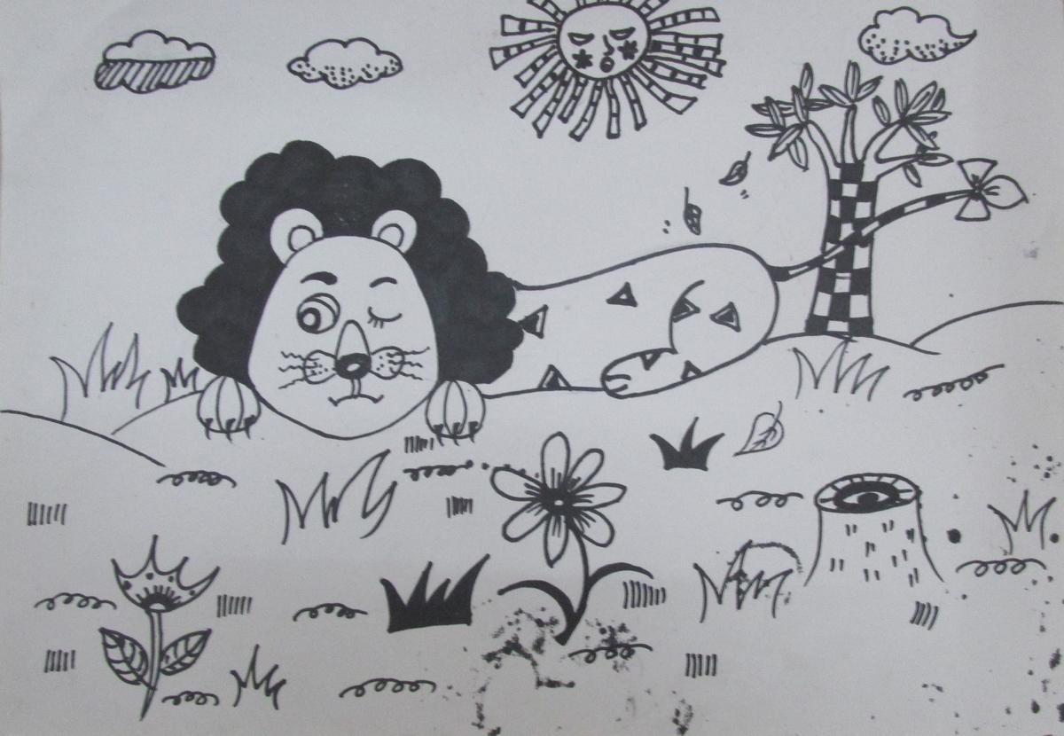 狮子||中国少儿艺术网—2015少儿书画大赛